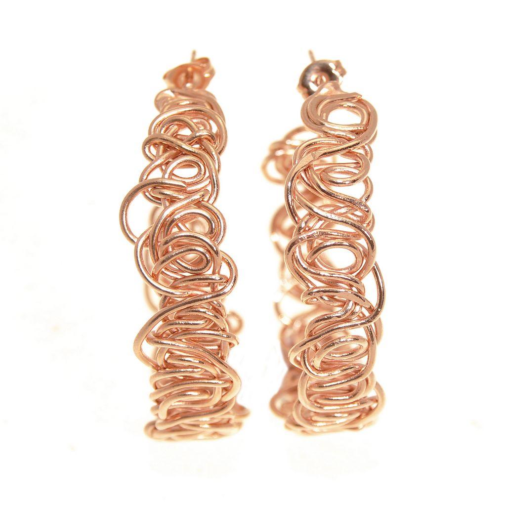orecchini oro rosso